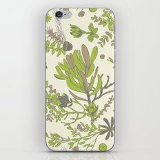 Cream Cradle Flora iPhone & iPod Skin