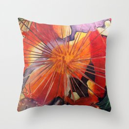 Microcosms of the Sea Throw Pillow
