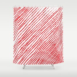 Candy Cane (The raw version) - Christmas Illustration Shower Curtain