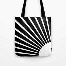 White rays Tote Bag