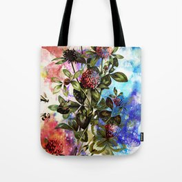 BEES AND CLOVER Tote Bag