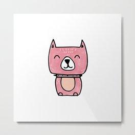 Cute pitbull dog pattern Metal Print
