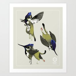 Tiny Griffin Art Print