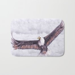 Eagle In The Clouds Bath Mat