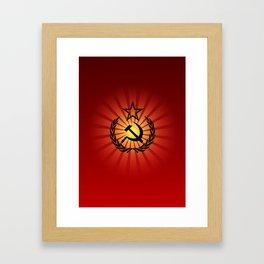 Sunny Hammer and Sickle Framed Art Print