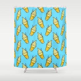 Sweet Little Pineapple Floats on Blue Shower Curtain