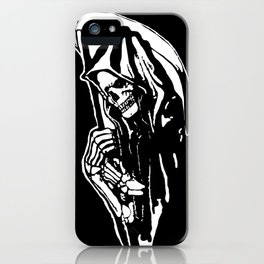 MAKE THIS OCTOBER AND HALLOWEEN A SCREAM WITH THE GRIM REAPER iPhone Case