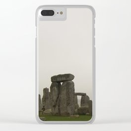 A Misty Morning at Stonehenge Clear iPhone Case