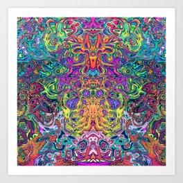 Animals mess Art Print