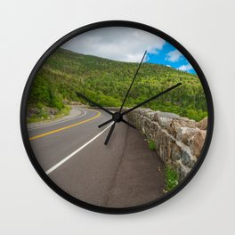 Whiteface Mountain Road Wall Clock