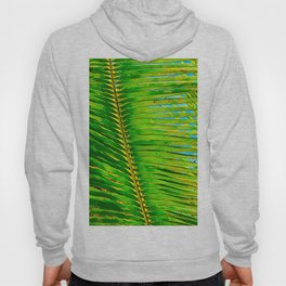 Coconut Frond in Green Aloha Hoody