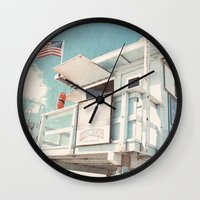 cabin Wall Clocks featuring The cabin by Retro Love Photography