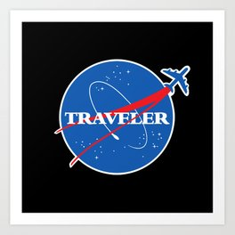 Interstellar Traveler Art Print