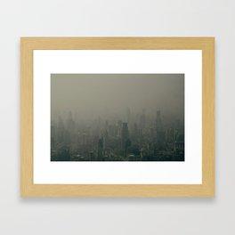 Shanghai skyline Framed Art Print