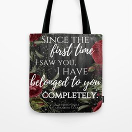 Jace Herondale Quote - The Mortal Instruments Tote Bag