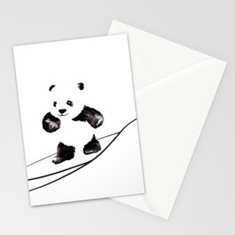 Surfing Panda Stationery Cards