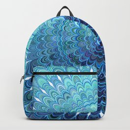 Frozen Oval Mandala Backpack