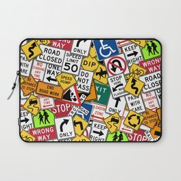 Street Signs Collage Laptop Sleeve