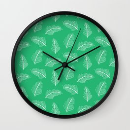 Friendly Ferns Green Wall Clock