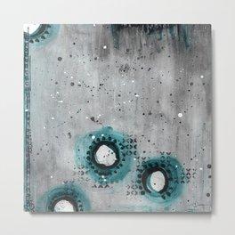 Charcoal Circles Low Metal Print