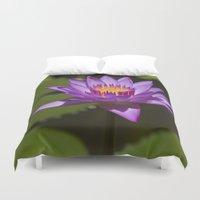 lotus Duvet Covers featuring Lotus by Maria Heyens