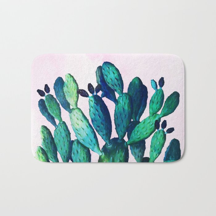Cactus Three Ways #society6 #decor #buyart Bath Mat