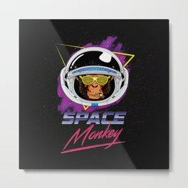 Space Monkey 1980s Metal Print