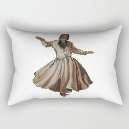 Whirling Dervish Conveys God's Spiritual Gift Rectangular Pillow