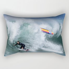 Paddle Out Skimboarding The Wedge. 7-4-20  Rectangular Pillow