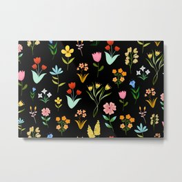 TINY LITTE COLORFUL  FLOWER PATTERN Metal Print