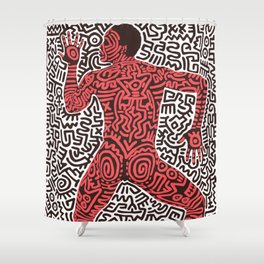 Into 84 after Keith Haring Shower Curtain
