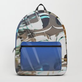 Clock Temple of technology Backpack