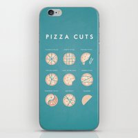pizza iPhone & iPod Skins featuring Pizza by Travel Poster Co.