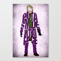 joker Canvas Prints featuring Joker by Ayse Deniz