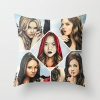 "pretty little liars Throw Pillows featuring Pretty Little Liars - ""Red Coat"" 