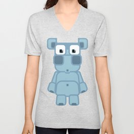 Super cute cartoon blue pig - bring home the bacon with everything for the pig enthusiasts! Unisex V-Neck