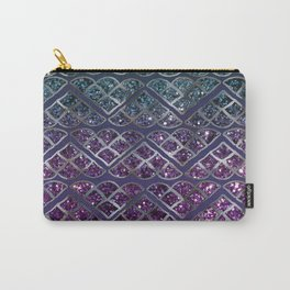 Purple Aqua MERMAID Glitter Scales Dream #1 #shiny #decor #art #society6 Carry-All Pouch