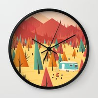 Wall Clocks featuring Go out by Roland Banrevi