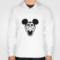 mickey Hoodies featuring Mickey Duck by cmyka