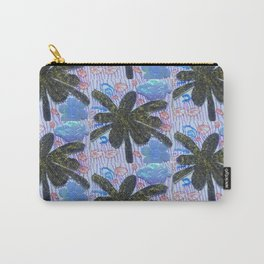 Glitter gold palm repeat doodle pattern Carry-All Pouch