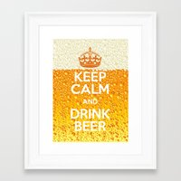 beer Framed Art Prints featuring Beer by Text Guy