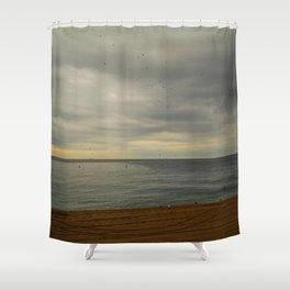 Barcelona beach Shower Curtain