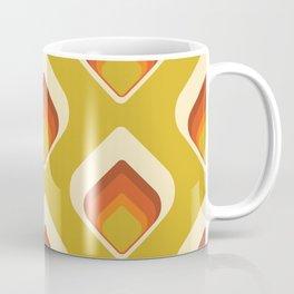 Mid-Century Modern Goldenrod Orange Cream Tear Drop Coffee Mug