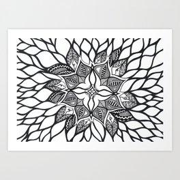 wild flowers: brainwash Art Print