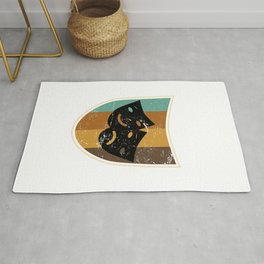 Comedy And Tragedy Masks Rug