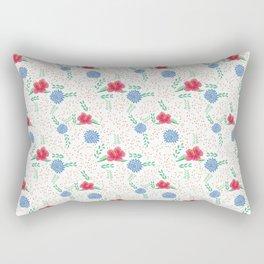 Beautiful Flowers on White background Rectangular Pillow