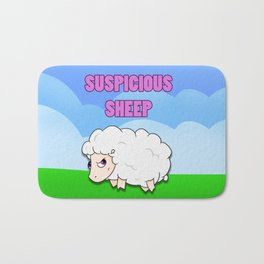 Suspicious Sheep Bath Mat