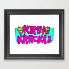 Kirby Krackle - 2016 Logo Framed Art Print