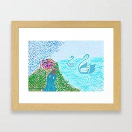 LEDA  AND THE SWAN Framed Art Print