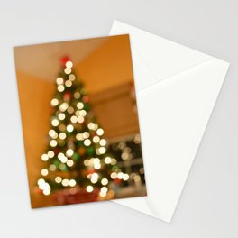 blurry xmas Stationery Cards